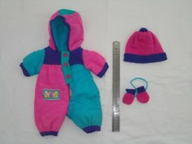 Dolls clothes most size Baby Bjorn doll pram suit, knitted jackets, trousers + more £5 can post + £2