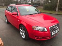 AUDI A4 AVANT SE TDI RED AUTOMATIC FULL HISTORY EXCELLENT CONDITION