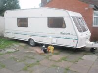1995 bessacarr wentworth xl 4 berth caravan with full awning
