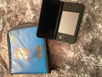 Nintendo 3ds xl black games console with case