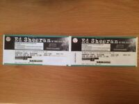 ** 2 WEEKS TO GO ** Ed Sheeran Tickets (x 2 SEATED) - Glasgow - Sunday 3 June 2018