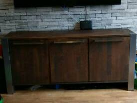 Solid brown oak unit