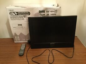 HD ready LCD TV with free view and DVD