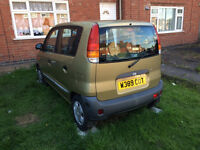 HYUNDAI ATOZ 5 DOOR, GOOD TYRES, MOT UNTIL 15/11/2017, ONLY 95589 MILES! SMALL CAR 998CC,