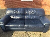 Leather Sofa's - 2 x 3 Seater Sofa's plus Single Arm Chair - £100 ONO