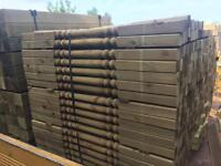 3ft treated decking spindals £1.40 each