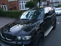BMW X5 DIESEL AUTO MSPORTS 55 REG NEW SHAPE FULL BLACK LEATHER INTERIOR ALLOY WHEELS TV GPS SCREEN