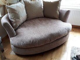 Taupe Cuddler Sofa for sale
