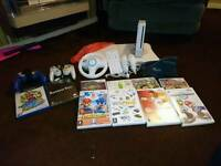 Wii with games and wii fit