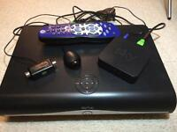 Sky + HD Box, on Demand Box, Remote TV Link & Official Chelsea FC HD Remote.