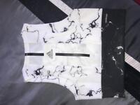 Adidas marble crop top