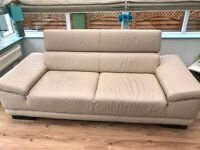 2 seater and 1 seater leather couch for sale