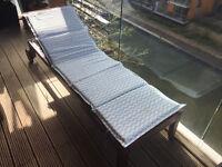 Ikea Applaro Sun Lounger with Cushion Pad and Rain Cover RRP £113 total