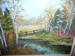 "L. M. Spears ""Country Scene"" Oil Painting Stratford Kitchener Area image 2"