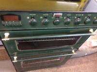 Green stoves 60cm ceramic hub electric cooker grill & double fan ovens with guarantee