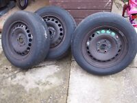 "VAG 15"" 5 stud 112 PCD Steel wheels suit 195 65 15 tyres ideal winter replacements or spares"