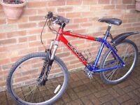 Gents `Kono Fire` high quality 27 speed Mountain Bike with aluminium frame & suspension front forks