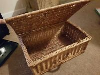 Traditional wicker picnic basket