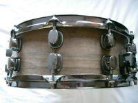 "Mapex mahogany-ply snare drum 14 x 5 1/2"" - Ex- Oasis -'90s - prototype"
