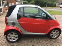 January 2005 semi auto smart for two cabriolet. Used every weekend drives good MOT oct, serviced