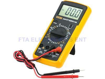 Large Lcd Professional Handheld Digital Multitester Ammeter Voltmeter Multimeter