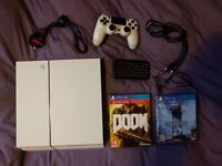 PlayStation 4 (PS4) 500 gig, 2 games, controller and bluetooth keyboard