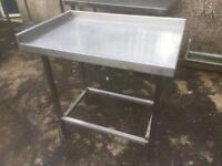 Medium Corner Stainless Steel Table