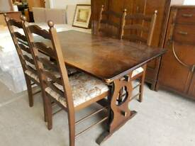 Vintage style table and four chairs
