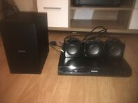!!!Phillips DVD player and surround speakers!!!