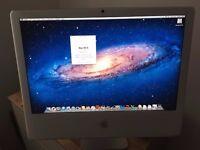 "Apple iMac 24"" intel dual 2.16ghz, 2gb ram, 250gb hard drive"