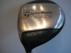 TaylorMade 320 Ti 10.5 Degree Left Hand Driver - Reg Lite Shaft + Head Cover. Good used condition