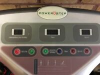 Power step plus vibration training plate with straps
