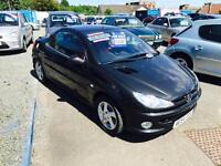 PEUGEOT 206 COUPE --FULL YEAR MOT --LOW MILAGE
