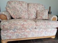 G PLAN 3 PIECE SUITE 3 SEATER SOFA SETTEE + 2 SEATER + ARMCHAIR FLORAL PRINT