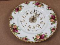 Royal Albert Old Country Roses Wall Clock -