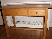 Wood Console / Narrow Desk / Dressing Table