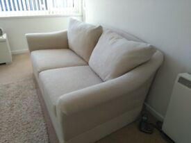 Marks & Spencers material 2 seater settee