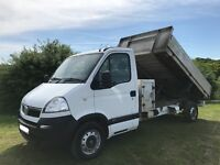 VAUXHALL MOVANO 2.5 DIESEL TIPPER TRUCK 2008 08-REG FULL SERVICE HISTORY 1 YEARS MOT DRIVES PERFECT