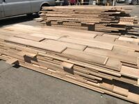 Reclaimed square edge semi solid oak flooring