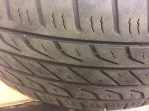 4 pneus d'été, Dunlop, Signature II, 235/55/17, 40% d'usure, mesure 6/32.