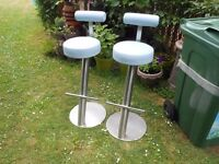 nice tall heavy stainless steel stools £25 each have 10 buy 1 or whatever you want
