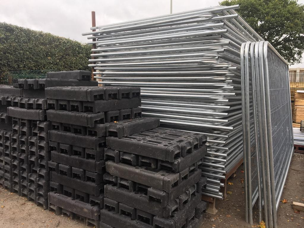 *New* Round Top Heras Temporary Security Fencing Sets X 35 - Panel/Foot/Clip