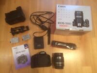REDUCED - Canon EOS 550D Digital SLR Camera with 18-55mm IS lens, BOXED plus Lowepro camera bag
