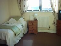 Single or Twin room available for short lets available after 15th April