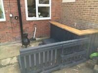 Pallet bar and seating area for sale