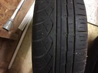 Two economy tyres 185 60 14 5mm tread