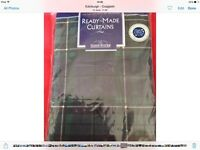 Tartan style curtains brand new in wrapper Macduff