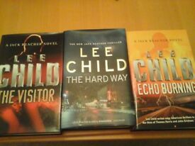 3 hardback Jack Reacher novels by Lee Child