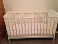 White cot from McCulloughs, Bangor