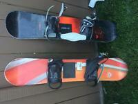 Junior snowboards with bindings